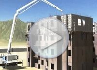 Cimbras Video Construccion de Edificio de 14 Niveles
