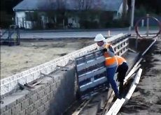 Cimbras Video - Construccion de muro perimetral de ladrillo